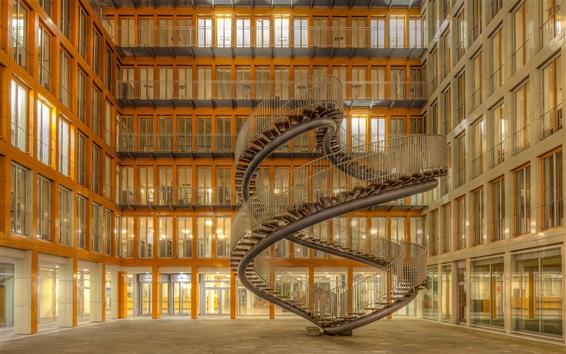 Обои Дом архитектуры, лестницы, Мюнхен, Германия