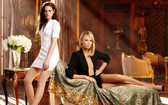 Wallpaper Kristen Stewart and Charlize Theron