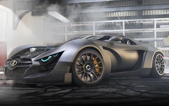 Wallpaper Lada concept black supercar