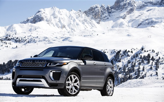 Wallpaper Land Rover Range Rover in snow winter