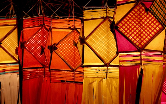 Wallpaper Lanterns, night