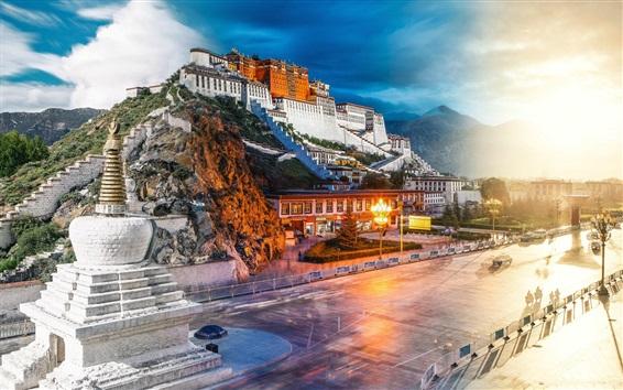 Wallpaper Lhasa Potala Palace, China tourist attractions