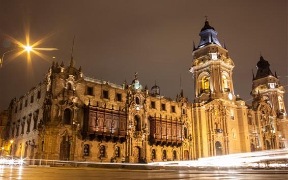 Wallpaper Lima city night, houses, lights