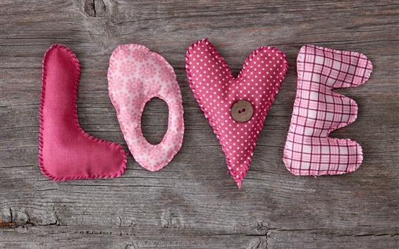 Wallpaper Love and cloth art