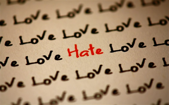 Wallpaper Many love and only hate