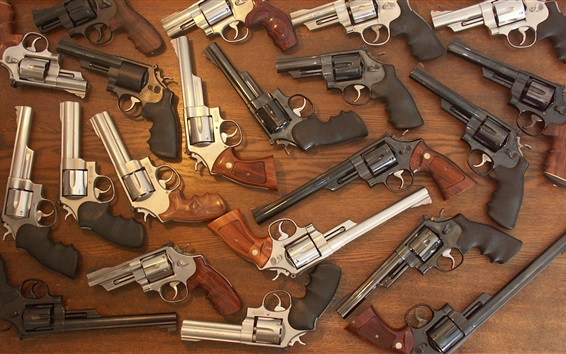 Fond d'écran De nombreux revolvers, armes, canons