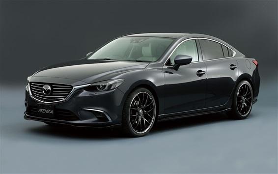 Fondos de pantalla Mazda Atenza coche negro concepto