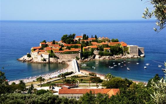 Wallpaper Montenegro, Adriatica, hotel, sea, boats