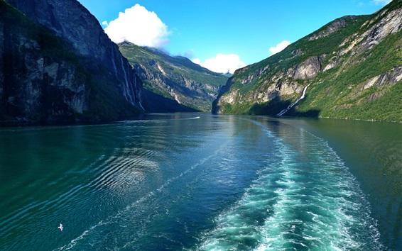 Обои Горы, реки, Норвегия красивая природа