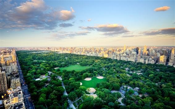 Обои Нью-Йорк Сити Центр Парк, США