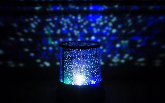Papéis de Parede Luz da noite, lâmpada, brilho azul