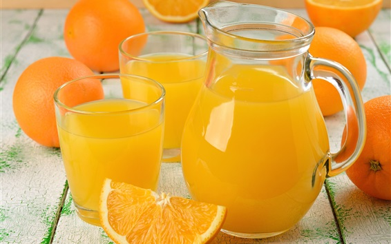 Wallpaper Orange juice, fruit drinks