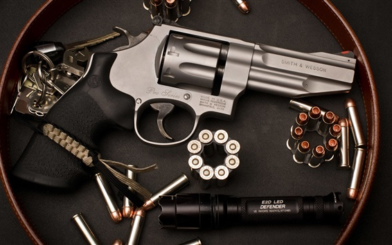 Wallpaper Revolver, Smith Wesson, weapon