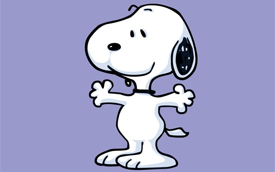 Wallpaper Snoopy cartoon star