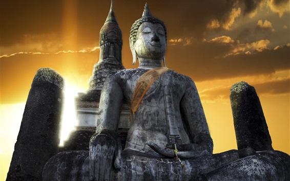 Fond d'écran Temple, bouddha, Sukhothai, Thaïlande