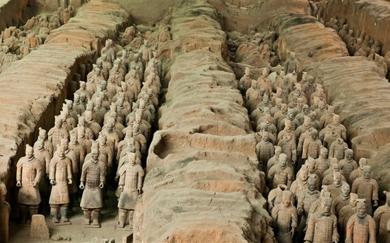 Wallpaper The Terracotta Army, China cultural attractions