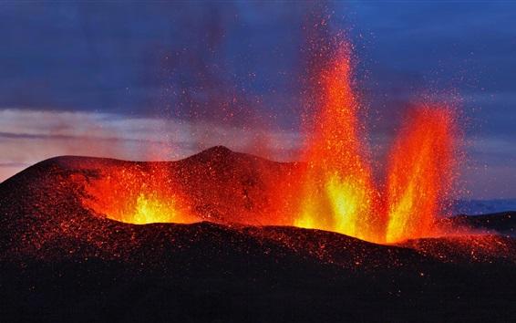 Обои Вулкан, лава