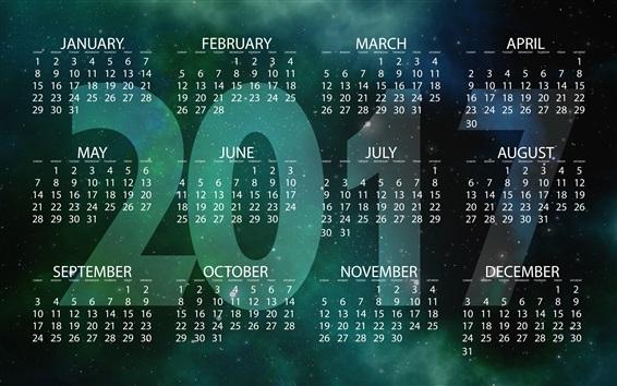 壁紙 2017カレンダー、新年