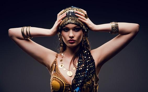 Wallpaper Arab dress sexy girl