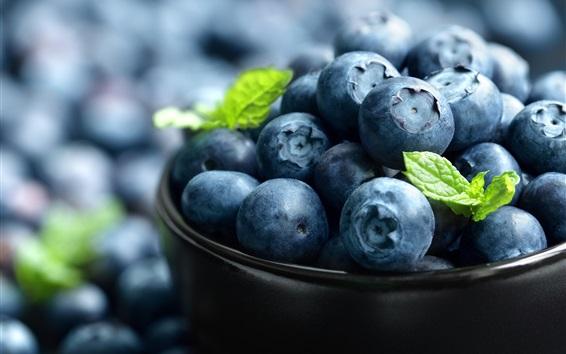 壁紙 ブルーベリーのマクロ写真、果物