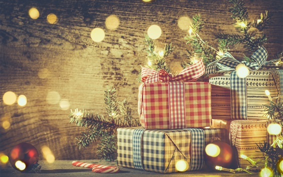 Wallpaper Christmas, balls, gifts, decoration, glare