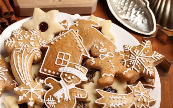 Fond d'écran Nourriture de Noël, biscuits