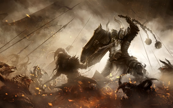 Wallpaper Diablo 3, Reaper of Souls, video game