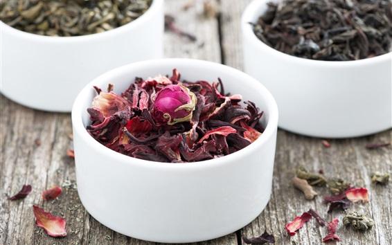 Wallpaper Dry tea, rose petals