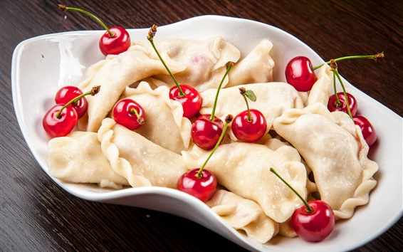 Fondos de pantalla Dumplings y cereza