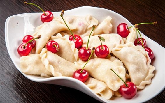Wallpaper Dumplings and cherry