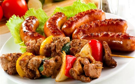 Wallpaper Kebab, meat, food