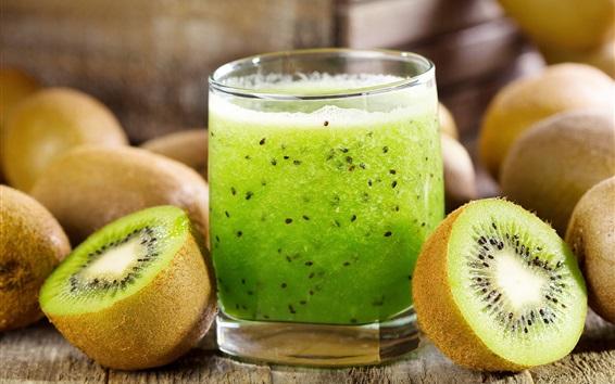 Fond d'écran Jus de kiwi, boissons aux fruits