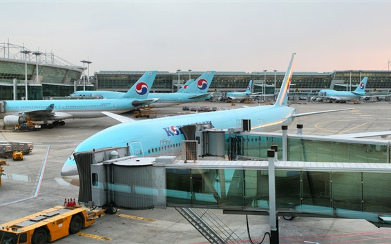 Wallpaper Korean Air, Incheon International Airport