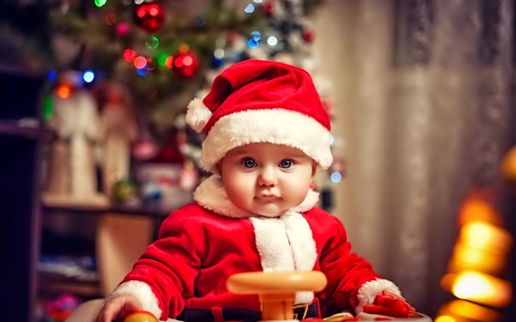 Wallpaper Lovely and beautiful Christmas child