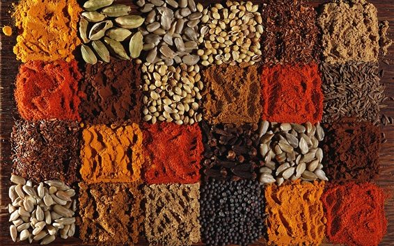 Wallpaper Many kinds of spices