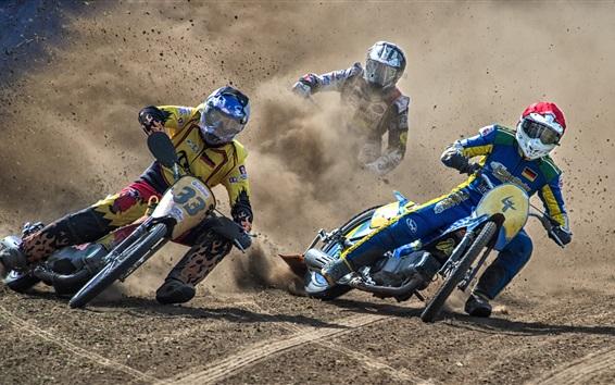 Wallpaper Motorcycle race, dirt, drift, sports