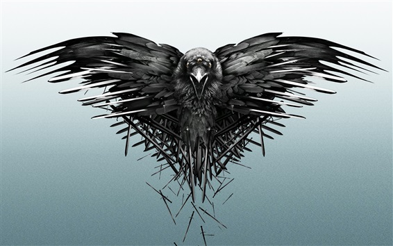 Fond d'écran Raven, épées, Jeu des trônes