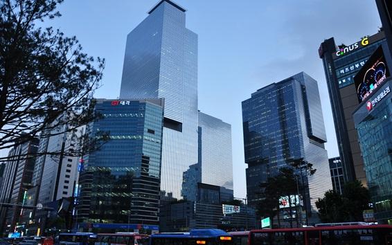 Wallpaper Samsung headquarters, skyscrapers, Seoul, Korea