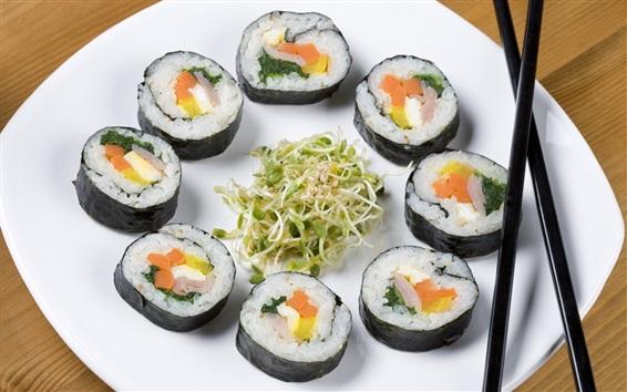 Wallpaper Sushi, Japanese food