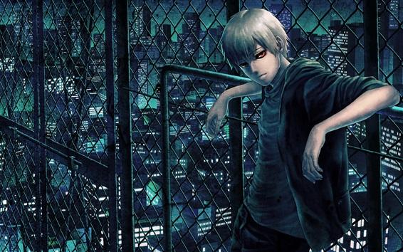 Fond d'écran Tokyo Ghoul, yeux rouges anime boy