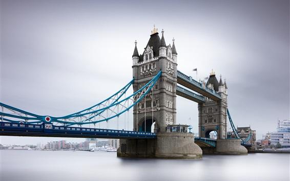 Wallpaper Tower Bridge, river, London, UK
