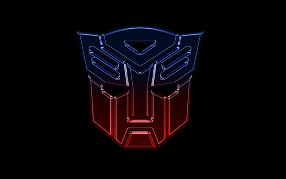Wallpaper Transformers logo, black background