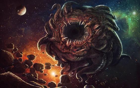Papéis de Parede Universo, monstro, muitos, olhos, arte, desenho