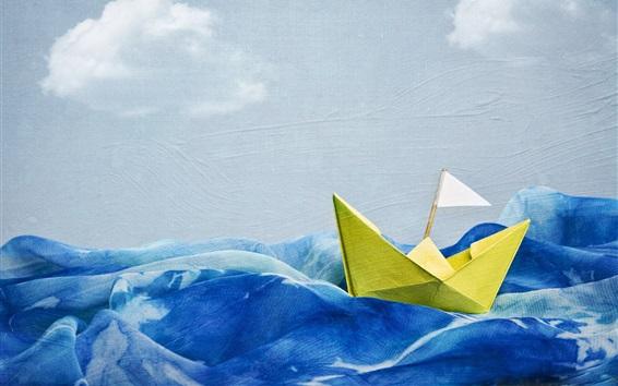 Обои Волна, корабль, творческое искусство