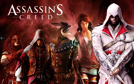 Wallpaper Assassin's Creed, heroes