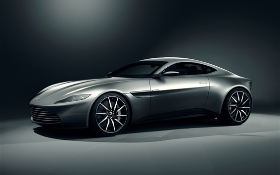 Wallpaper Aston Martin DB10 gray supercar
