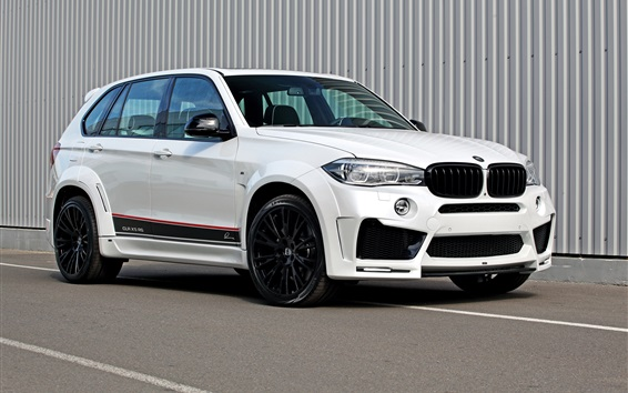 Wallpaper BMW F15 white SUV car