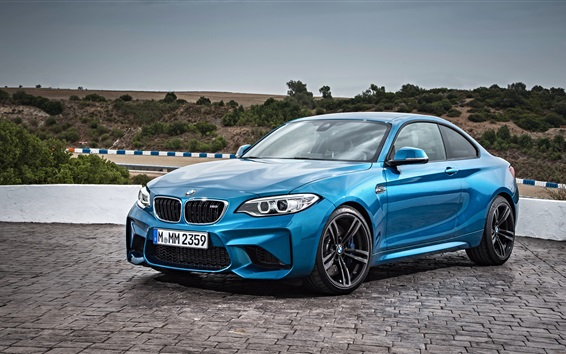 Wallpaper BMW F87 blue coupe