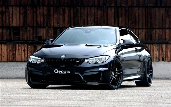 Wallpaper BMW G-Power F82 black coupe