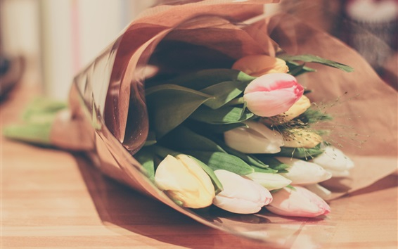 Wallpaper Bouquet tulips, flowers gift